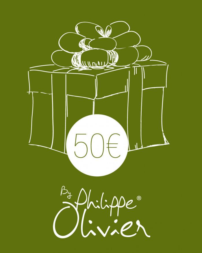 Carte Cadeau à 50 €
